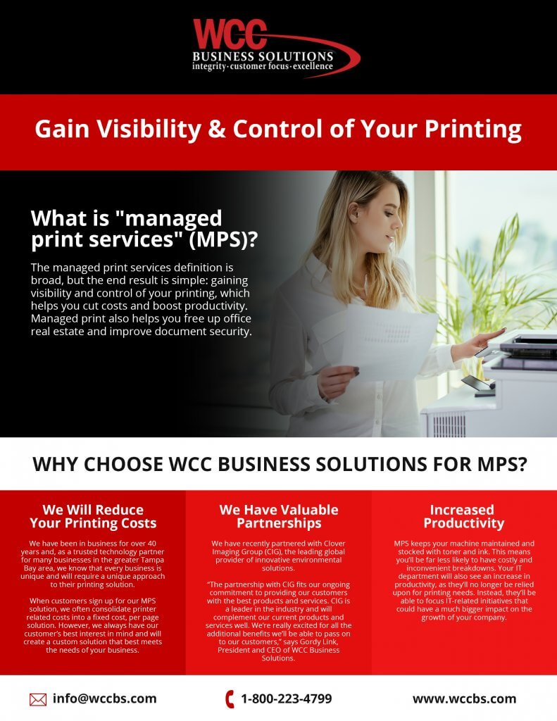 Why Choose WCC Business Solutions For MPS?